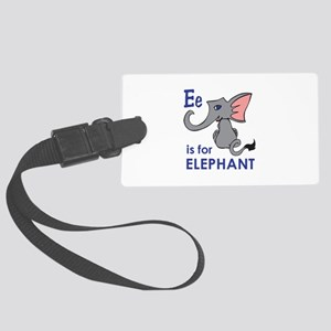E IS FOR ELEPHANT Luggage Tag